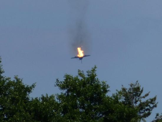 Bild des Eurofighter-Unglücks